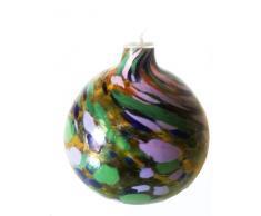 Lampade In Vetro Colorate : Lampada tavolo perle abat jour con base in vetro e pietre colorate