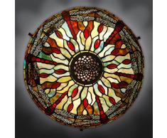World Art, TWGD16027, Lampada da tavolo dragonfly, Lampade Tiffany, 42 x 43 x 42 Cm