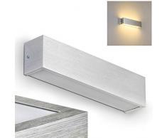 Applique LED Design Moderno - Luce Bianca Calda Ideale come Applique da parete interni- Lampada da Muro Stile Lineare
