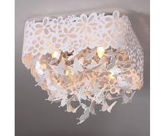 Romantic Crystal-Lampadario con luci a forma di farfalla con luci da soffitto per cameretta ristorante-Lampadario a incasso