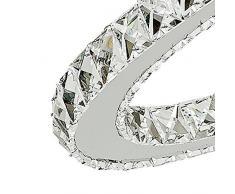Lampadari, TopMax 2 ovale anello 30*50cm cristallo lampada a sospensione lampada a sospensione lampada a soffitto a LED (S50)