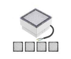 parlat, Faretto LED da incasso a pavimento, IP67, 5 pz, 10 x 10 cm, luce bianca calda, LC-EL-055-WW-x5