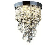 Delle Made cristallo lampadario moderno plafoniera per scale, cucina, sala da pranzo, camera dei bambini,3 luce, LED Lampade incluse