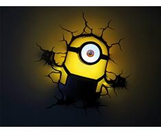 3D Light Fx Minions Stuart con Timer Lampada LED, Multicolore