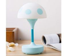 XIAOXINYUAN Creativo Fungo Touch Sensor USB Sonno Notte Luce LED Comodino Lampada Home Decor Amante Regalo Blu