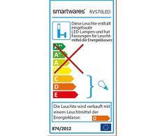 Smartwares RVS70LED Applique da Esterno, Acciaio Inossidabile, Cromo, 11x15x32.5 cm