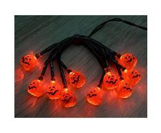10 WeRHalloween mostra acrilico rosso della lampada LED Luci zucca di Halloween decorazione dellalbero di Natale, Arancione