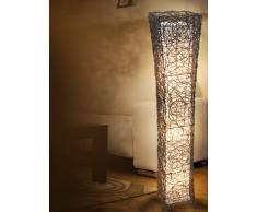 Naeve Leuchten 235314 - Lampada da terra intrecciata, 118 x 21 cm, colore: Marrone