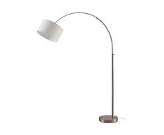 Lampada da terra 'Railyn' (Moderno) colore Beige, in Tessuto ad es. Soggiorno & Sala da pranzo (1 luce, E27, A++) di Lampenwelt | lampada ad arco, lampada da pavimento