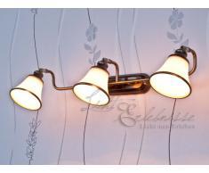 Licht-erlebnisse - Esclusiva lampada decorativa per specchio da bagno con 3 luci, in stile Liberty e con effetto ottico in bronzo 1/1/913
