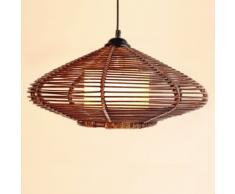Sud-Est asiatico Rattan ovale a mano luci lampadario sala da pranzo sala di studio ristorante parlor Ciondolo apparecchi di illuminazione