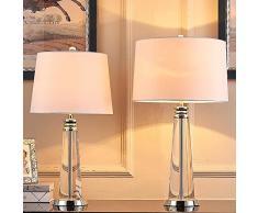 SKC Lighting-lampada da tavolo Lampada da tavolo moderna in cristallo moderno lampada da tavolo in vetro creativo grande lampada da tavolo lampada da tavolo decorata da soggiorno (Colore : Piccolo)