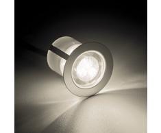 10x LED Faretti da incasso / luci ad incasso, Ø 30 mm, IP44 - a prova di schizzi, metallo (cromo / bianco caldo)
