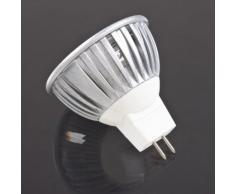 SODIAL (R) 3W 12V bianca calda 3 LED Lampadina 3 LED Spot Lampada da incasso 3X 1W