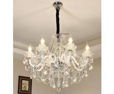 loonju lusso LED moderno lampadario di cristallo a soffitto Lustre de sfera di cristallo cristallo ciondolo appeso lampada della cucina della casa di apparecchi di illuminazione, 8 luci