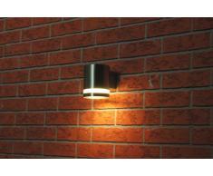 Ranex RA-5000327 Volare Lampada da Parete Discendente, Acciaio