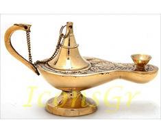 Greek Christian Orthodox bronzo Lampada a olio, 373/5