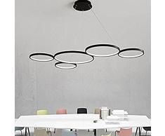 Oscuramento Moderni LED Lampade a Sospensione Design Lampadari Elegante Soffitto a Sospensione Lampada Classico Salone di Casa Soggiorno Luce pendente, Nero