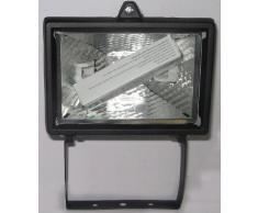 Faretto alogeno fanton 62610 max 150w con staffa da parete colore nero