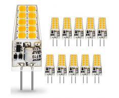 AUTING G4 LED Lampadina,3.5W Equivalenti a 35W Lampada Alogena,Bianco Caldo 3000K Lampade LED G4 400LM,Non Dimmerabile AC/DC 12V 360 Grado,10 pezzi