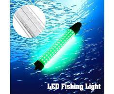 TOOGOO 10W luce di pesca verde 12v LED notte lampada subacquea per la raccolta di pesce