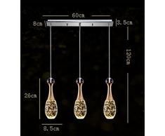 Lampadario a sospensione   ZMH cristallo LED Lampada a Sospensione 3Wx 3 luci tazza chiara Lampada per contro soffitti moderna Plafoniera (Bianco caldo)