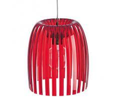 Koziol Lampada A Sospensione Josephine, rosso trasparente, m, E27