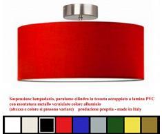 Plafoniera moderna cilindro a sospensione montatura in metallo (diametro 50)