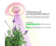 relassy LED lampada da scrivania e pianta coltiva la luce in un, premurosa lampade da tavolo e spettro completo crescere lampada, con hydroponik pentola, USB di ricarica, Touch Control, Ventilatore di convezione (Polvere)