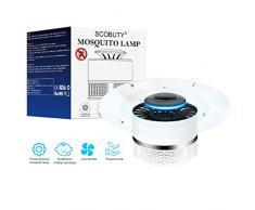SCOBUTY Lampada Antizanzare,Lampada Repellente per zanzare,Mosquito Killer,Zanzariera Elettrica,USB Alimentato Intelligente Controllo della Luce UV Insetto Killer,Sicuro, innocuo per Il Corpo Umano