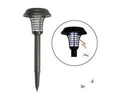 Energia solare zanzara Killer lampada LED luce UV repellente per zanzare antizanzare per giardino esterno cortile prato percorso, Model A