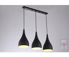 San Tai@Lampada lampadario a sospensione design retrò,Nero,alluminio,21cm*16cm