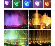JINDA 12 V 10 W rgb sott' acqua LED Lampade lampada per festa di matrimonio natale, 900lm IP68 impermeabile luce LED con telecomando