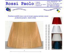 Idea casa: Paralume tronco cono organza nastrato a Mano PRODUZIONE PROPRIA (made in Italy). Diametro 30cm
