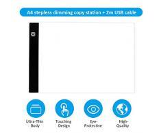 Leepus Quadro di illuminazione a LED ultra sottile Sottile Quadro di tracciatura Quadro Lavagna con alimentazione USB Regolazione continua della luminosità per tracciamento di cartoni animati Disegno