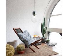 Lampada a sospensione, KOONTING Lampadario di design a forma di lampadina, Base E27,Ø15cm.
