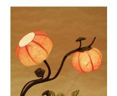 Lampada a Sfera In Carta Di Riso o Gelso Lavorata a Mano Arte Deco Con Motivo Fiori Rossi Art Nouveau o Lanterna Abat-Jour Stile Orientale Per Camera Da Letto
