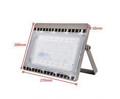 MCTECH 50W Bianco freddo Faretto led da esterno faretti led Faro LED Proiettore Lampada LED IP65 Impermeabile per Cortile, giardino, patio, vialetto