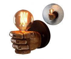 kinine Vintage acqua tubo parete luce Fixture industriale ottone parete Sconce Edison lampada retrò metallo applique retrò soffitto luce lampada da parete retrò 05