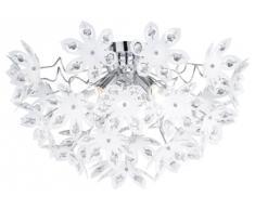Lampadario design moderno fiori bianchi grandi ~ 50cm