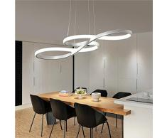 Oscuramento Moderni LED Lampade a Sospensione Design Lampadari Elegante Soffitto a Sospensione Lampada Classico Salone di Casa Soggiorno Luce pendente Bianco , 100CM