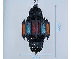TOTO-romantico Cafe Retro lampadario lampada creativa mediterranea marocchina bar macchiato contro illuminazione hallwayglass