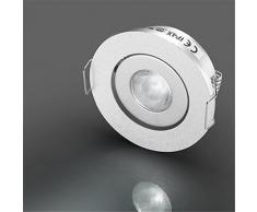 LED Mini piccoli faretti Lampade con CREE 3W da incasso a soffitto rotonda angolo regolabile Bianco 4300K + driver