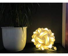 Lampada da terra a forma di sferaSalzburgo, dimensioni 22 cm, con 15 LED RGB cambiacolore e luce bianca calda, stile retrò degli anni 70/80