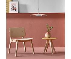 KJLARS 24W tondo LED dimmerabili lampada a sospensione design lampadari moderni lampada da ufficio , Materiale-Acrilico lampada di pannello in tessuto per la lampada ufficio appendere, tavolo da pranzo per appendere lampada, ufficio,studio,soggiorno