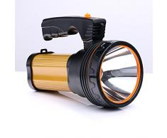 ROMER LED Rechargeable Handheld Searchlight High-power Super Bright 9000 MA 6000 LUMENS CREE Tactical Spotlight Torch Lantern Flashlight (oro)