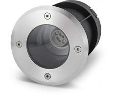 Faretto rotondo da incasso, GU10, IP67, in acciaio INOX / vetro, fino a 2000 kg
