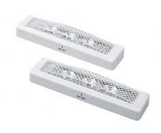 2 x luce LED bianco lampada mobili luce da incasso luce armadio lampada da incasso