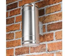 design lampada applique per esterni lampada per esterni in acciaio inox con GX53 BASE 230 Volt argento luce per Esterni applique da parete lampada da Parete Giardino Cortile esterno