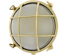Rota 12W LED Lampada applique da soffitto da parete da muro costruire dall' ottone per esterni o per interni illuminazione per marina, nautica barca vintage retrò leggero luce